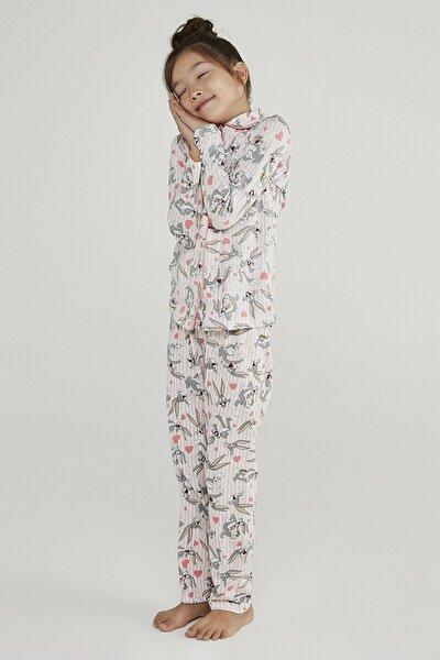 Gül Kurusu Kız Çocuk Pink Bugs 2li Pijama Takımı