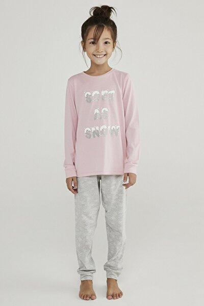 Çok Renkli Kız Çocuk Hot Tech Snow 2li Pijama Takımı