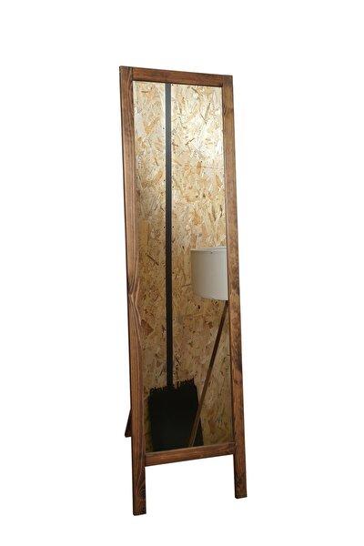 Ayaklı Boy Aynası Masif Ahşap 38*145 Cm