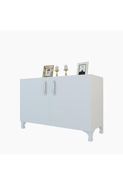 Beyaz Kapaklı Ayaklı Mutfak Dolabı 048*090*032