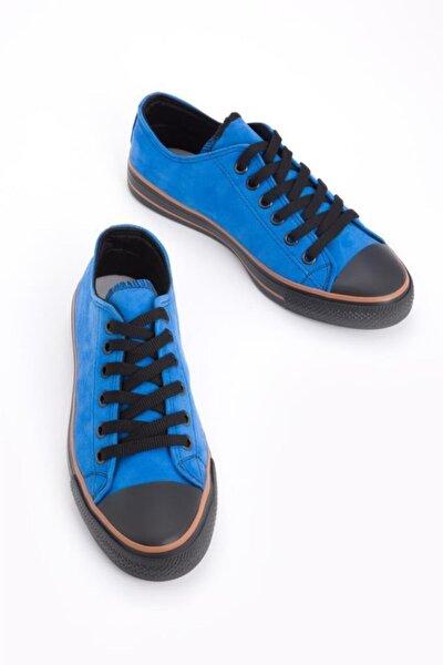 Unısex Lacivert Süet Spor Ayakkabı