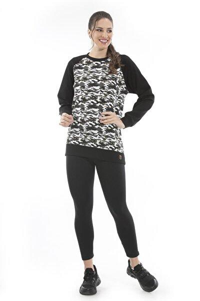 Kamuflaj Desenlı Sweatshirt (Un-14591)