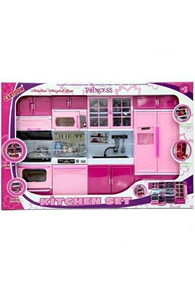 Oyuncak Mutfak Seti Oyuncak Şef Mutfak Seti 4 Lü Buzdolabı Fırın Lavabo Bulaşık Makinesi Set