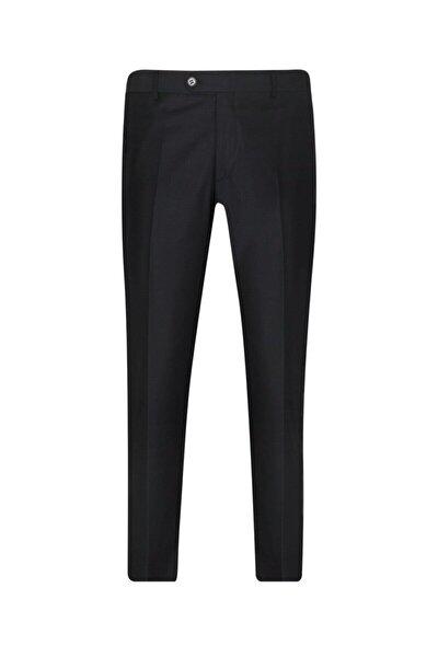 Rahat Kalıp Siyah Erkek Kumaş Pantolon