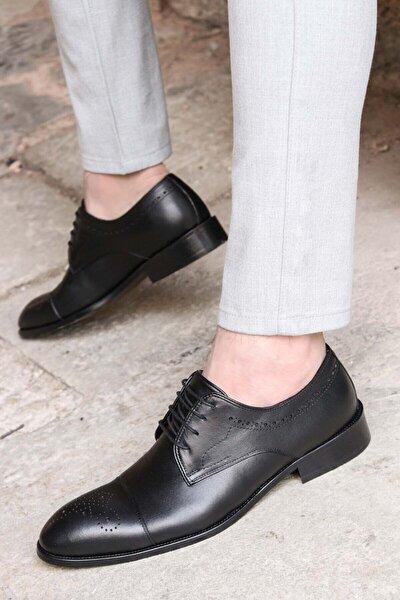 Hakiki Deri Siyah Erkek Klasik Ayakkabı 822ma78