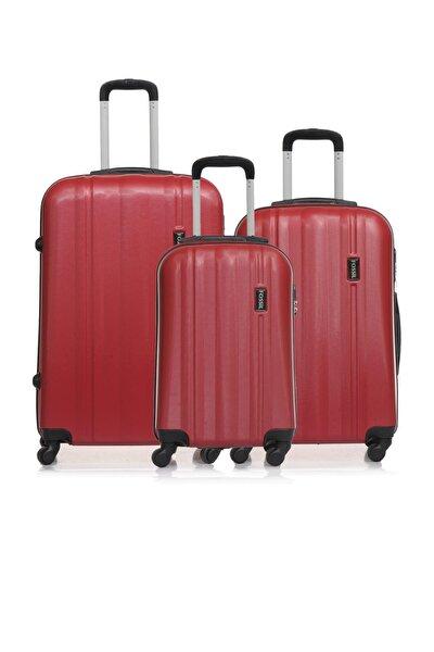 Fsy1225y-set Kırmızı Unisex 3 Lü Set Bavul