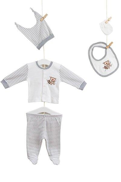 Erkek Bebek Hastane Çıkış 5li Takım Azz005245