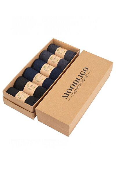 Premium 6'lı Erkek Bambu Çorap - 2 Siyah 2 Lacivert 2 Füme