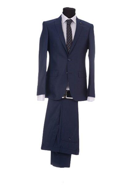 Erkek  Lacivert Power Lycra Berf Kalıp 6 Drop Basıc Takım Elbise 10200200900 20kers