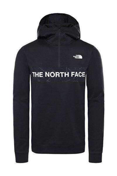 Train N Logo Yarım Fermuarlı Erkek Sweatshirt Siyah