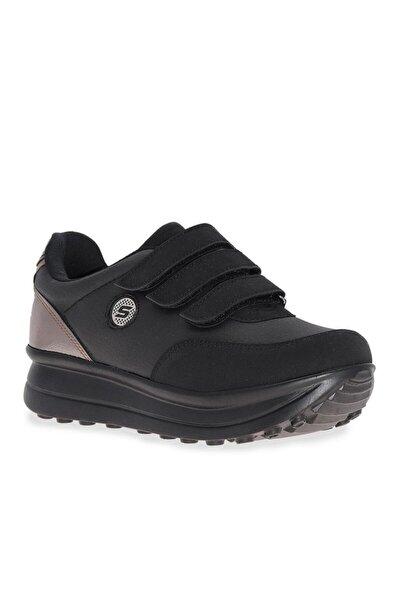 Çizgi Azka Cırt Cırtlı Kadın Spor Ayakkabı