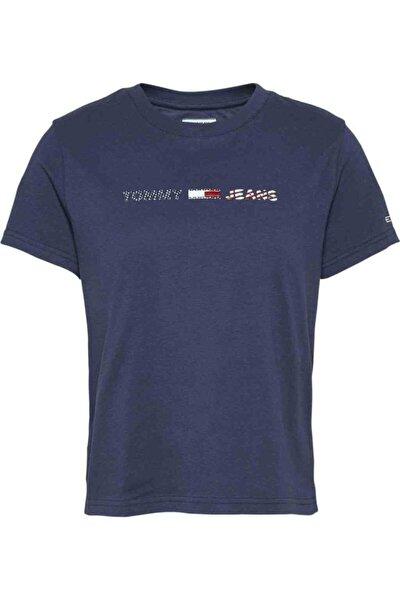 Kadın Mavi T-Shirt Tjw Amerıcana Logo Tee DW0DW08486