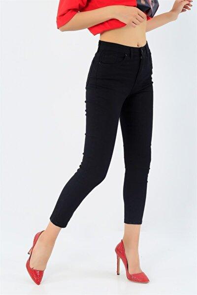 Bayan Dar Paça Yüksekbel Pantolon