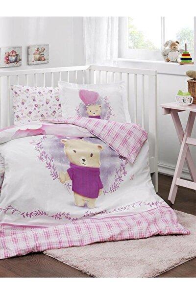 Bebek Battaniyeli Beşik Nevresim Takımı Purple Lover Pembe