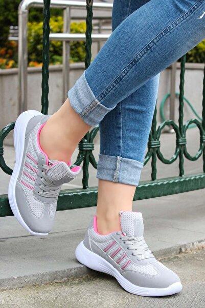 Füme Fuşya Kadın Sneaker Ayakkabı 925za221