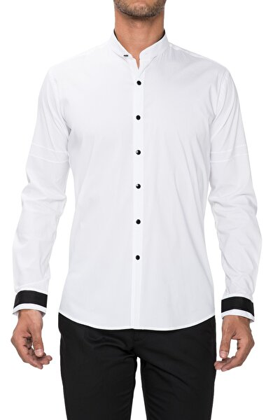 Gk 480 Slim Fit Beyaz Klasik Gömlek