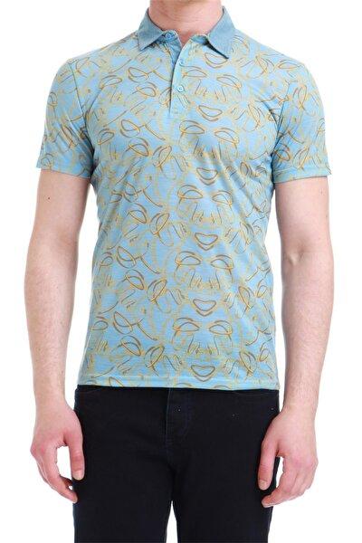 Ts 733 Slim Fit Mavi Spor T-shirt