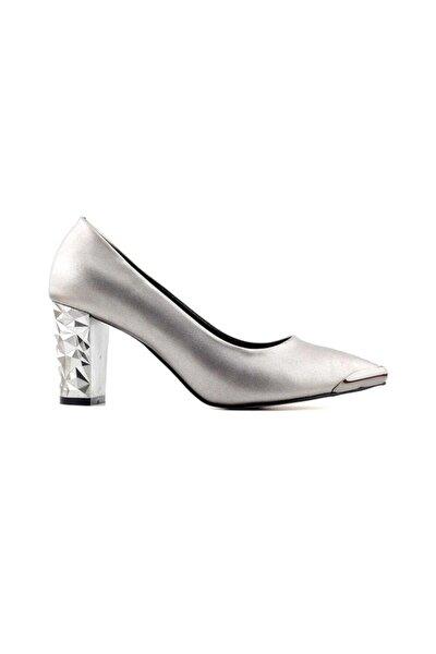 K556 Kadın Topuklu Ayakkabı-platin