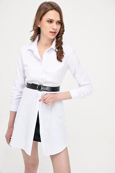 9072734 Şamre Uzun Kollu Gömlek Beyaz