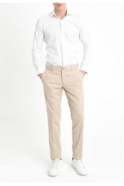 P 1059 Slim Fit Bej Spor Pantolon
