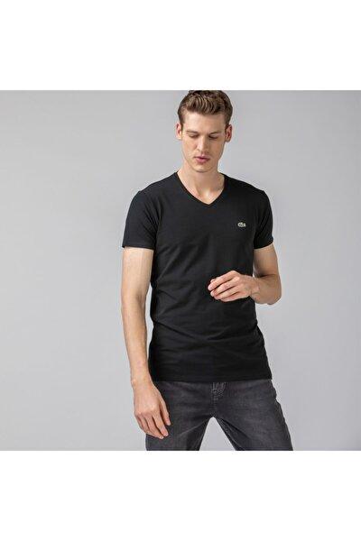 Erkek V Yaka Siyah T-Shirt TH0999