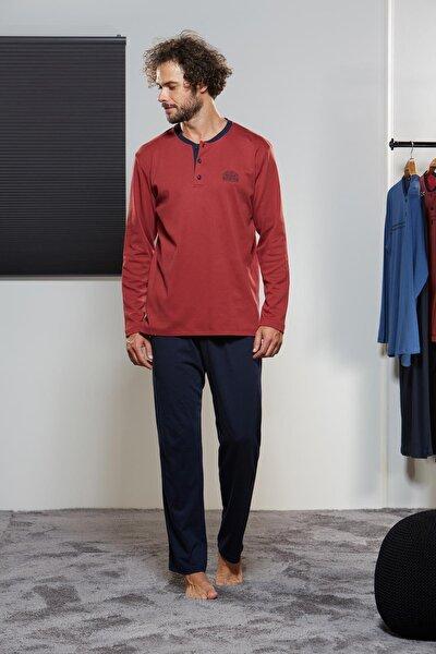 Erkek Düğmeli Pijama Takımı 21317