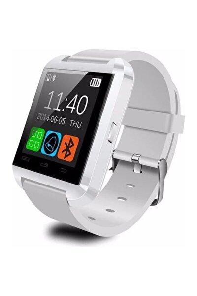 U8 Bluetooth Akıllı Saat Dokunmatik Ekran Beyaz