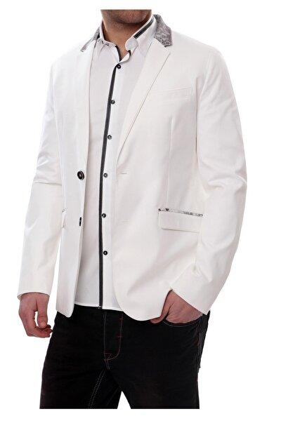 C 406 Slim Fit Beyaz Spor Ceket
