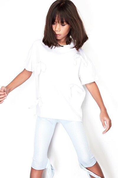 Kız Çocuk Mavi Tayt 19ss0tj4222