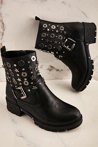 Siyah Kadın Bot & Bootie K0516041809