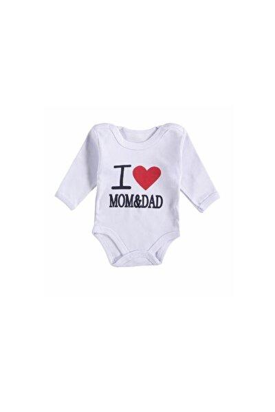 I Love Mom&dad Çıtçıtlı Zıbın