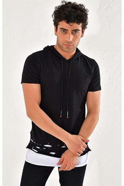 Atş 017 Slim Fit Siyah Spor T-shirt