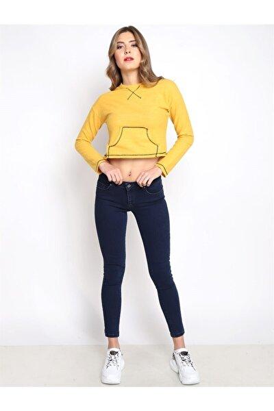 Kadın Slim Fit Orta Bel Pantolon Lıma 9046-36 36