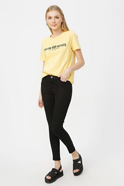 Kadın Skinny Siyah Pantolon Lf2023159