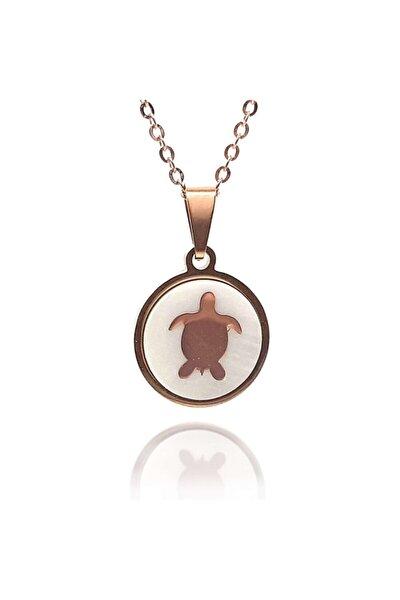 Kaplumbağa Figürlü Paslanmaz Çelik Bayan Kolye