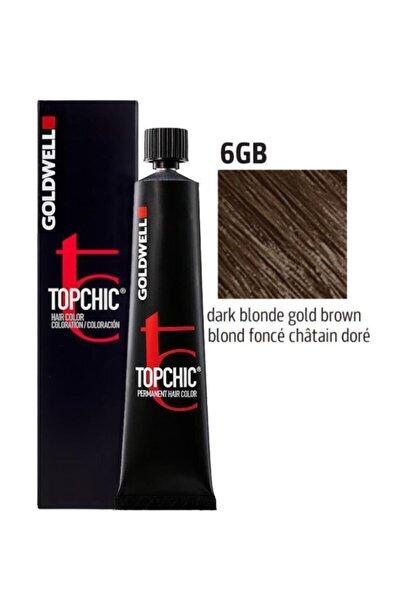 Topchic Saç Boyası 6gb Koyu Kumral Altın Kahve 60 ml