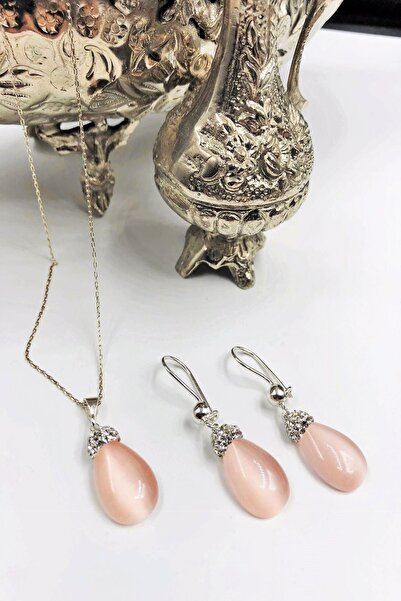 Dr Stone Harem Koleksiyonu Kedigözü Taşı El Yapımı 925 Ayar Gümüş Set Gdr19