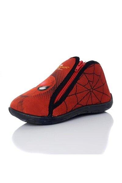 Erkek Çocuk Kırmızı Örümcek Adam 90208x Fermuarlı Panduf Ev Kreş Ayakkabısı