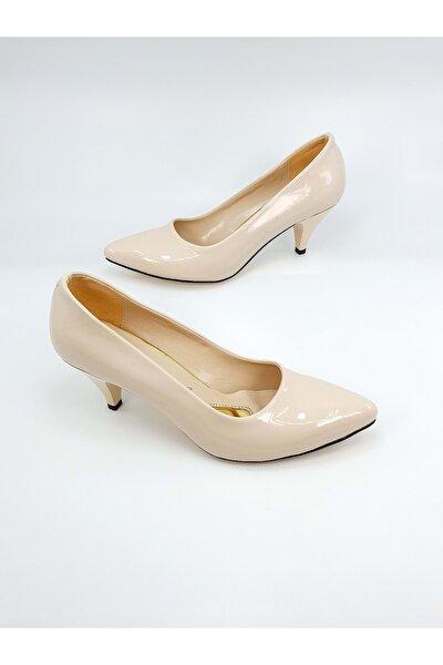 Bayan Topuklu Ayakkabı - Bej - 36