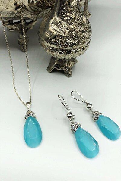 Dr Stone Harem Koleksiyonu Kedigözü Taşı El Yapımı 925 Ayar Gümüş Set Gdr16