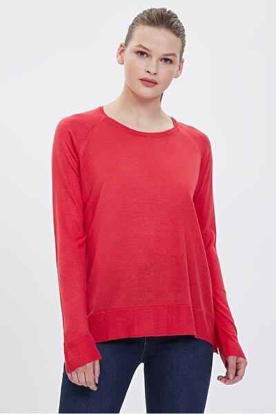 Kadın Regular Fit Kırmızı Kazak Lf2021668