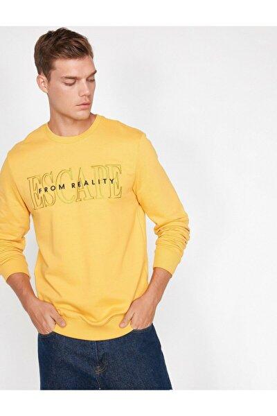 Erkek Yazılı Baskılı Sweatshirt
