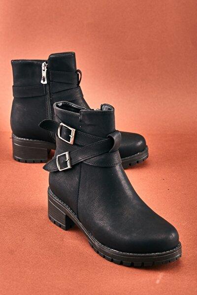 Siyah Kadın Bot & Bootie K0671032509