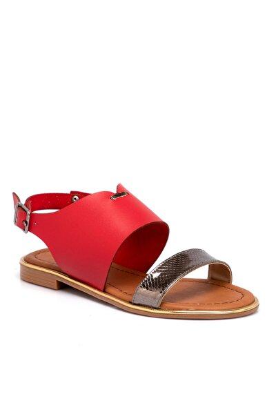 Kırmızı Vegan Kadın Sandalet 210026d64