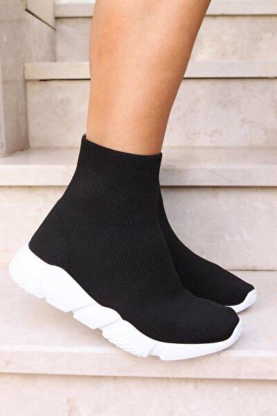 Kadın Triko Streç Çorap Bot Sneaker Günlük Spor Ayakkabı 520ayw1007syh