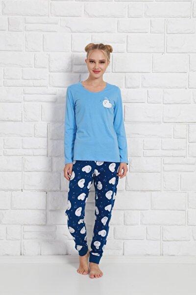 Kadın Pijama Takım 9030495584 Mavi