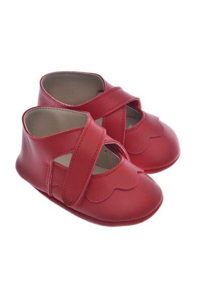 911220 Kırmızı Kız Bebek Patik, Bebek Ayakkabı