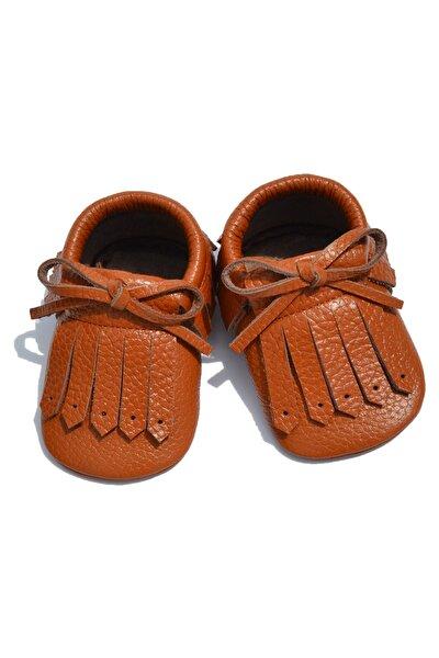 Unisex Bebek Kahverengi Retro Makosen Ayakkabısı Cv-350