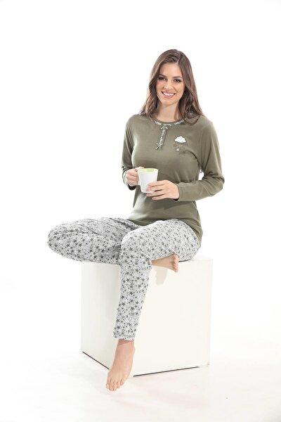 %100 Cotton Uzun Kol Pijama Takımı 98041