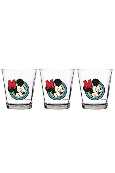 Üçlü Lisanslı Mickey 280 Cc Cam Bardak